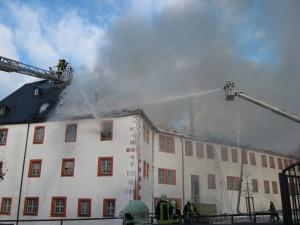Großbrand Schloss Ehrenstein