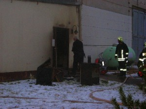 Brand in Georgenthal hinter Firma Holzapfel
