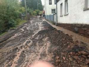 Überflutete Straße 3